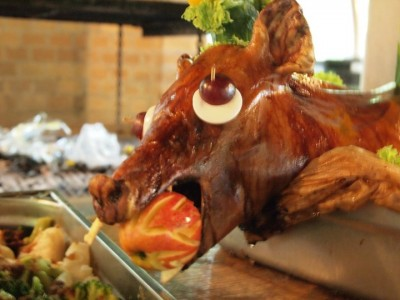Eastern Europeans certainly know how to lay out a feast. This baby piglet tasted absolutely amazing!